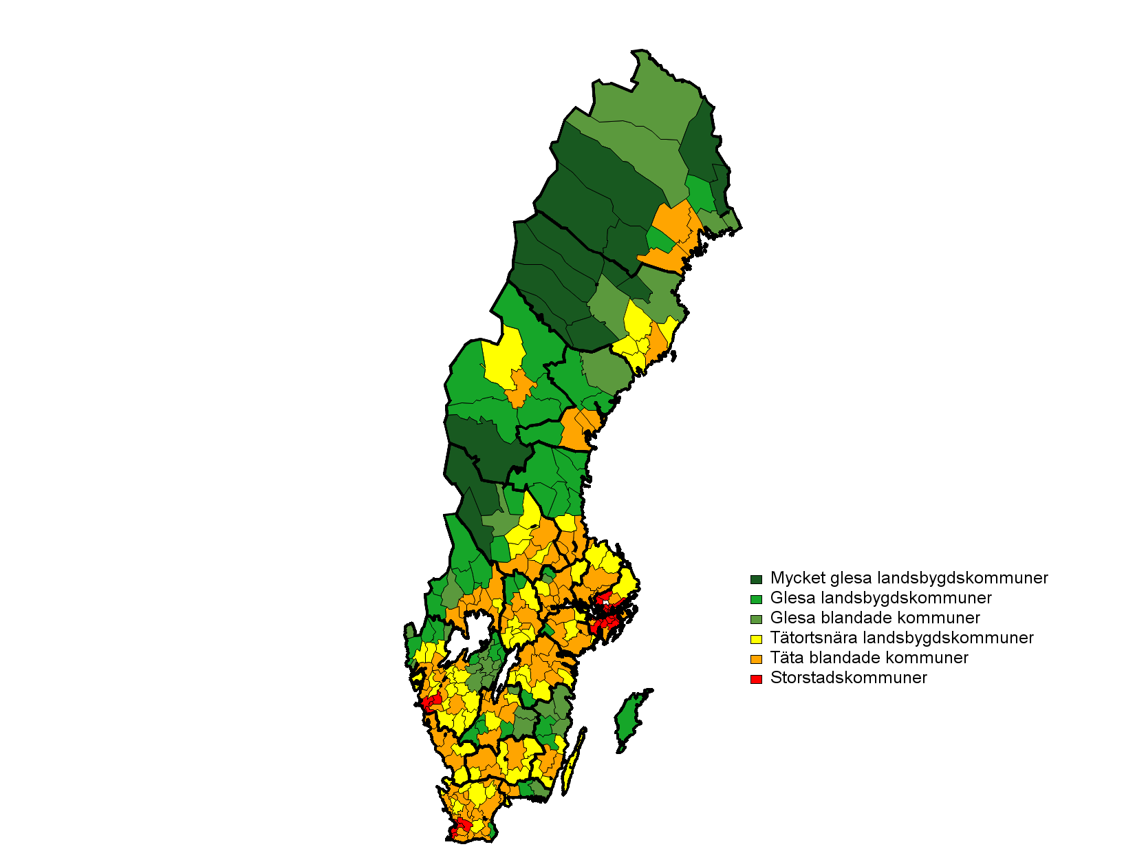 Choropleth map of kodsexgradig